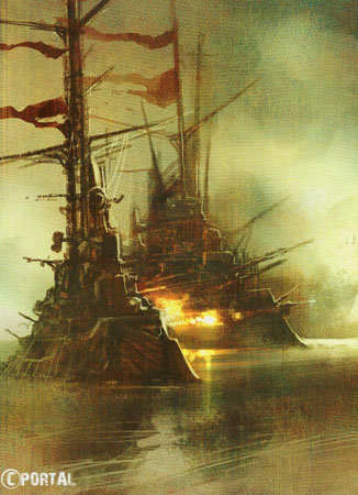 An Inspiring Image for Dwarven Warships